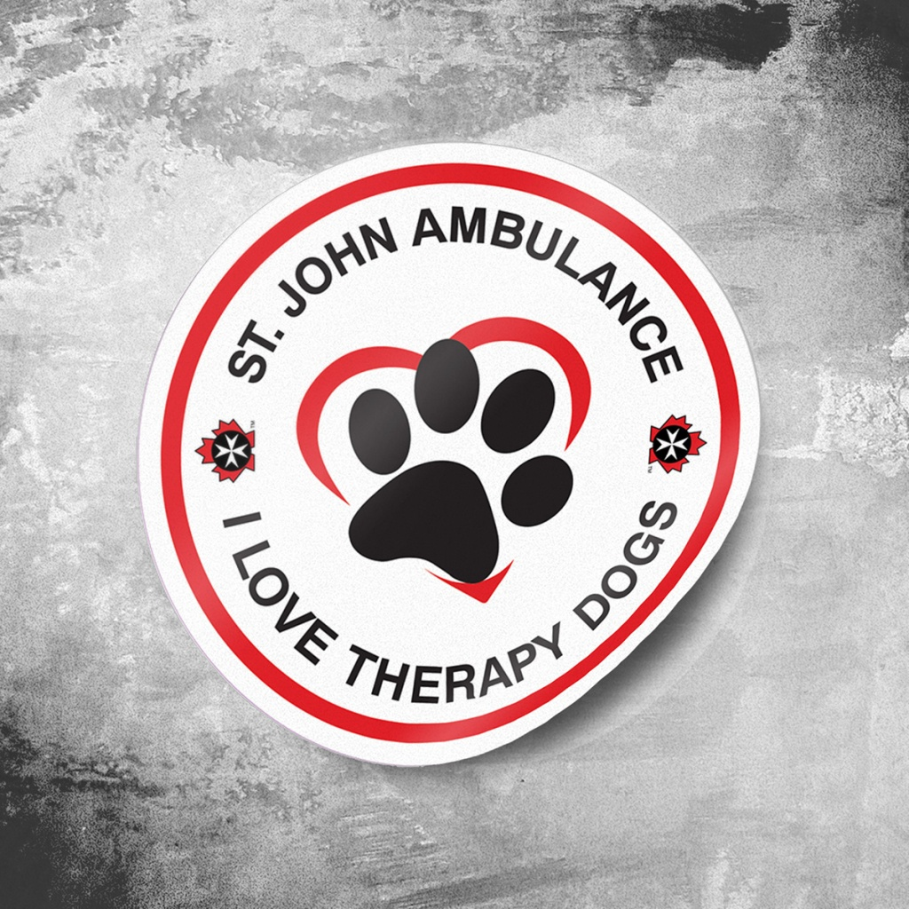 St. John Amburlance Therapy Dogs new logo